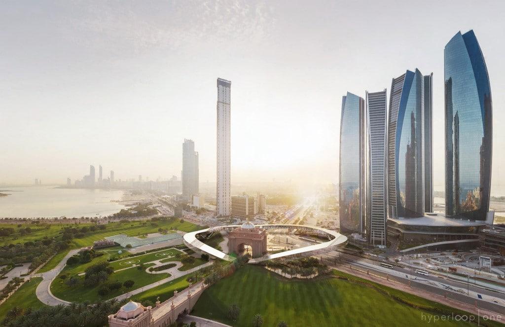 Potentielle station Hyperloop à Dubaï