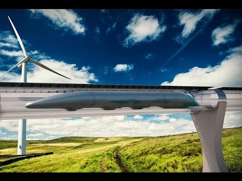 Le train supersonique Hyperloop en action