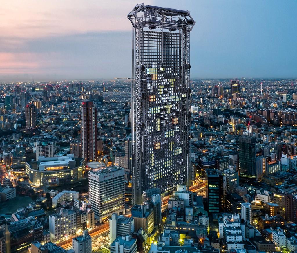 Logements imprimés en 3D dans le gratte-ciel