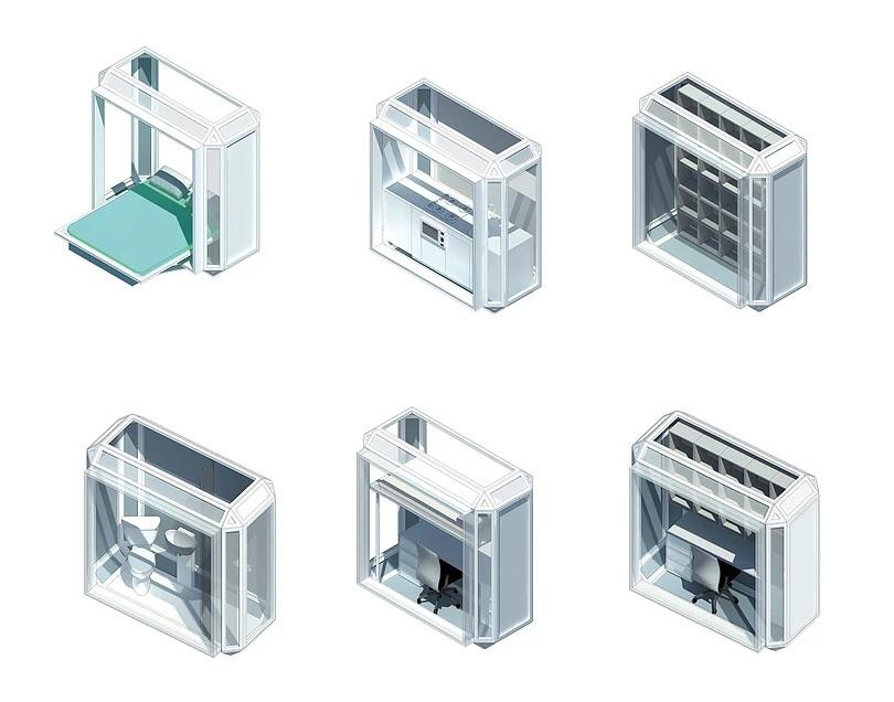 Capsules imprimés à insérer dans la grille de la tour