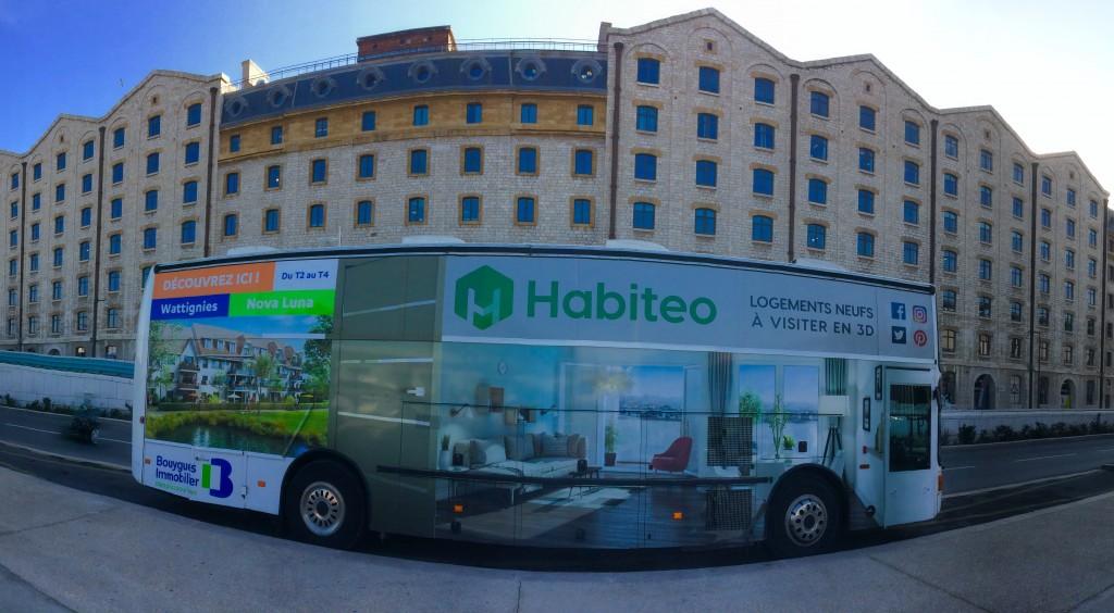 Habiteo Truck au couleur de Bouygues Immobilier