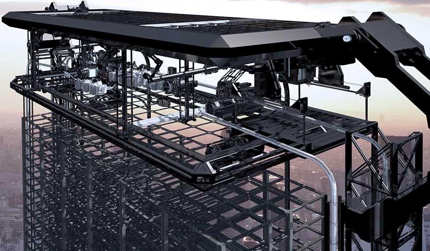 Imprimante 3D créant les logements imprimés