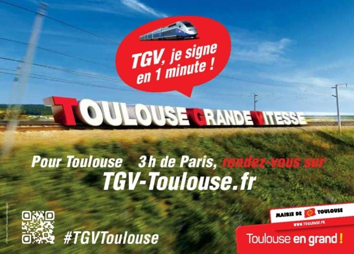 Pétition pour la LGV Bordeaux - Toulouse
