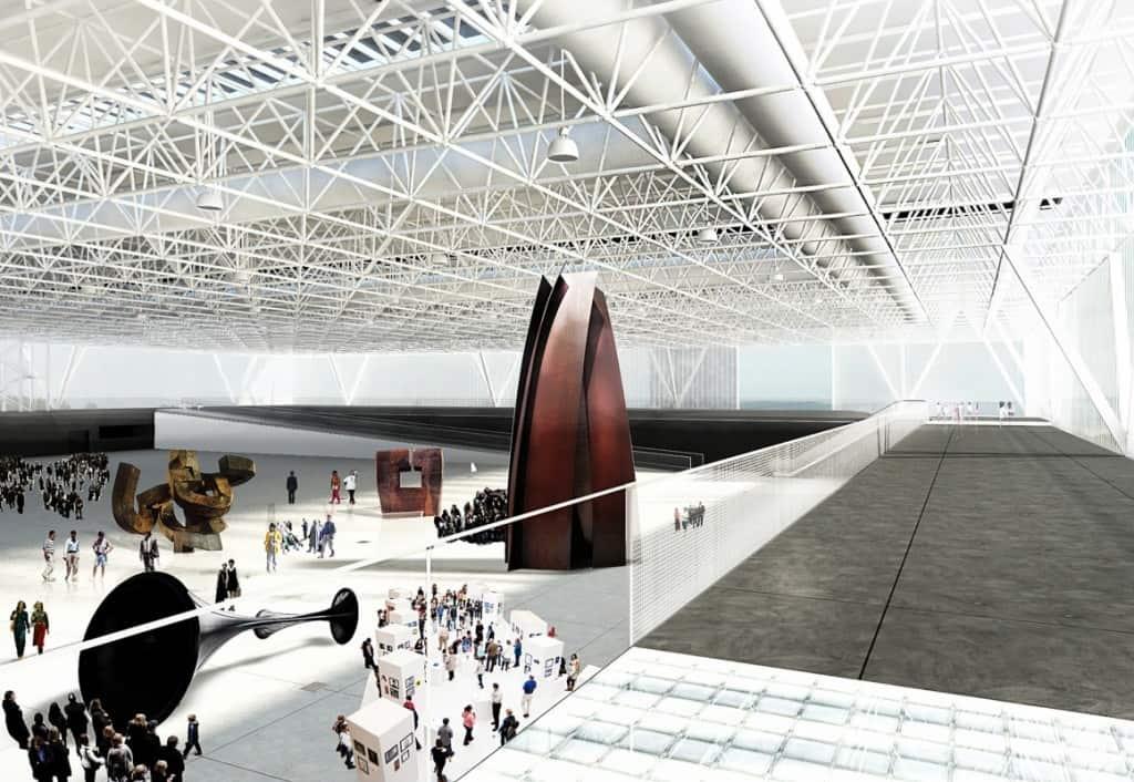 Intérieur du Parc des Expositions de Toulouse Métropole