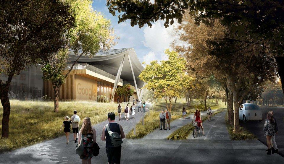 Image du futur campus de Google.