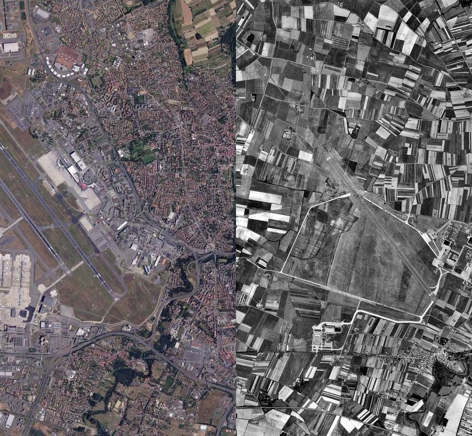 Vue aérienne de Blagnac avant et après