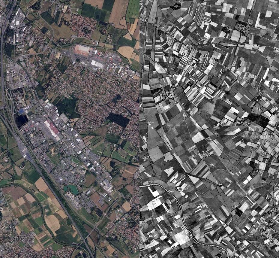 Vue aérienne de Labège et Saint-Orens