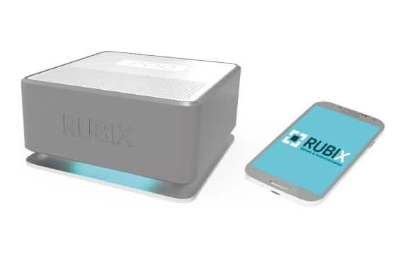 Rubix Pod et le smartphone pour recevoir les alertes