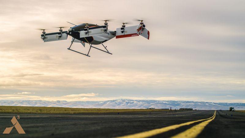 Test-vol d'un drone-taxi