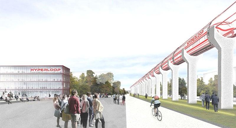 Installation d'Hyperloop sur le site de Francazal