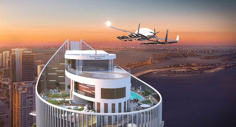 La piste d'atterrissage pour les voitures volantes