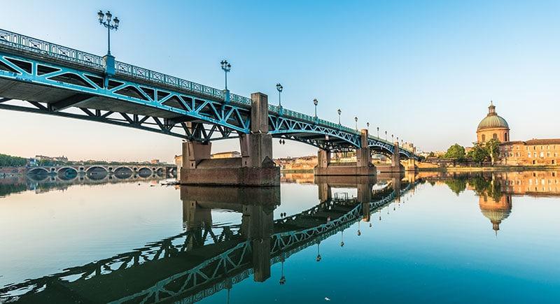 Vue sur Toulouse et son pont