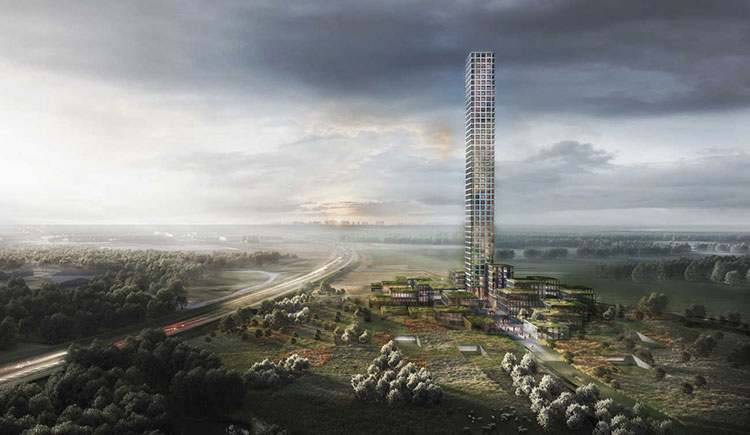 Le futur gratte-ciel record à Brande