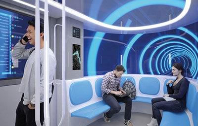 Intérieur du futur métro Toulouse