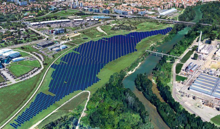 Maquette de la centrale photovoltaïque